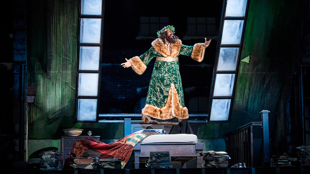 ansa akyea ghost of christmas present in a christmas carol photo by dan norman